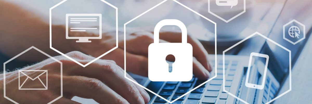 cyber security online, cybersecurity concept on internet, user writing password on computer